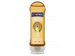 Gel de masaje 2in1 hidrantante y estimulante. Aroma a vainilla y efecto calor. De base acuosa, hipoalergénico sin fenoxieltanol, sin   parabenos.